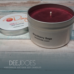Blackberry Sage Soy Candle by DEEJ DOES