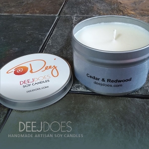 Cedar & Redwood Soy Candle by DEEJ DOES