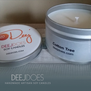 Cotton Tree Soy Candle by DEEJ DOES