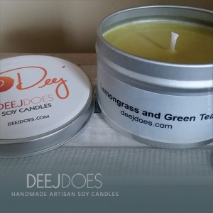 Lemongrass and Green Tea Soy Candle by DEEJ DOES