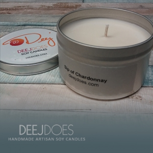 Sip of Chardonnay Soy Candle by DEEJ DOES