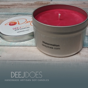 Watermelon Soy Candle by DEEJ DOES